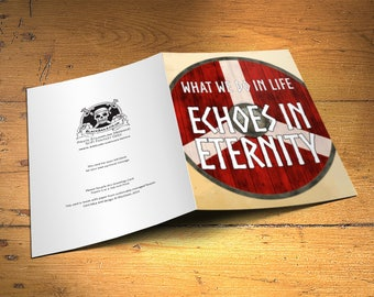 Viking Greetings Card, What we do in Life Echoes in Eternity, Home Decor, Inspirational Quote Birthday Gift, 5x7 Inches