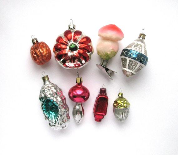 Sale Set Of 8 Soviet Glass Christmas Tree Ornaments