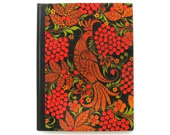 Khokhloma, Russian Ornaments, Lacquer Wood painting, Folk Art, Soviet Vintage Book, 1980