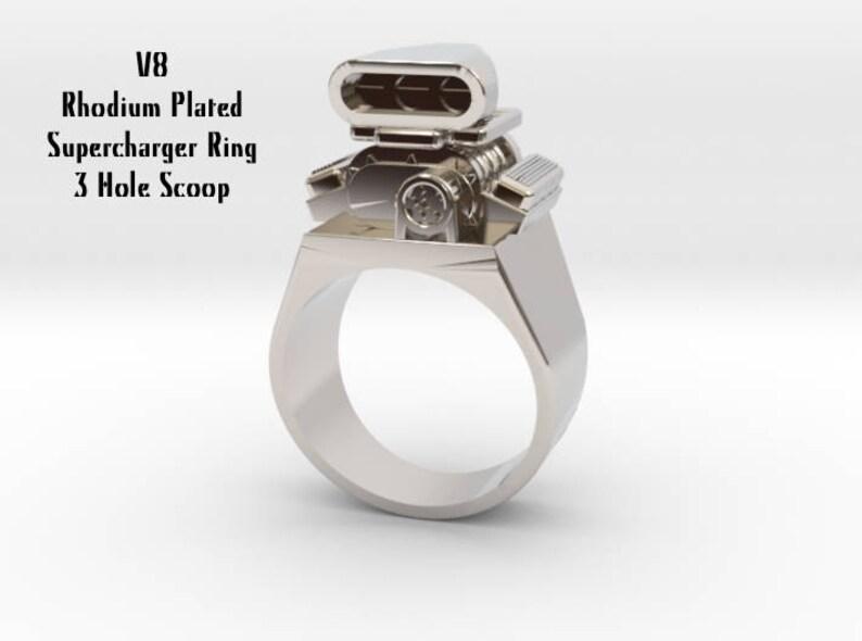 Premium Big Block Entertainment V8 Car Engine Ring 3 Hole Scoop Valve