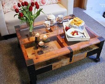 holztisch etsy. Black Bedroom Furniture Sets. Home Design Ideas