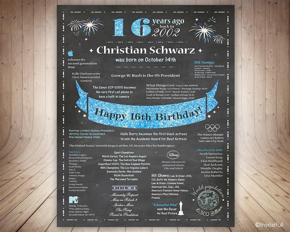 Sweet 16 Geschenk für junge Tafel Zeichen 16. | Etsy