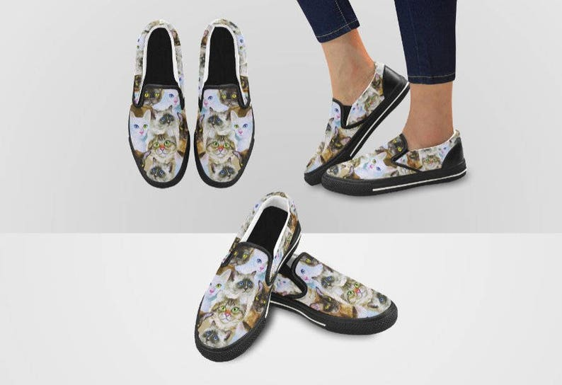 Cats Slip On Sneakers for Women and