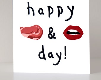 Steak and blowjob day cards