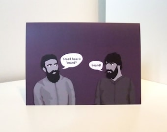 Men With Beards - Very Manly Birthday Card