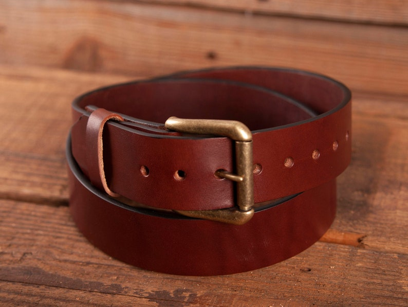 Leather Belt Full Grain Leather Belt Brown Leather Belt image 0