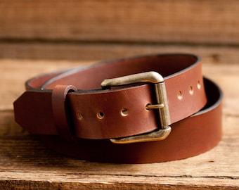 Leather Belt, Full Grain Leather Belt, Brown Leather Belt, Mens Leather Belt, Womens Leather Belt