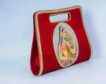 Beautiful handcrafted silk clutch!
