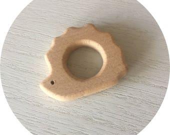 HEDGEHOG natural wooden teething ring