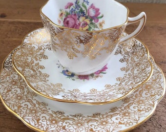 Beautiful Clare Bone China Trio.