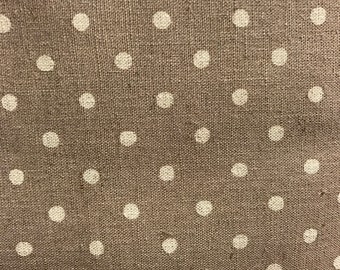 Linen cotton mix spots