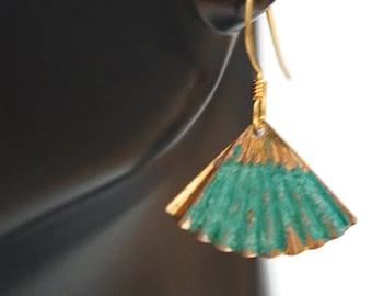 Patina Petite Fan Earrings