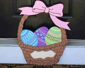 Easter Basket Outdoor Wood Decoration