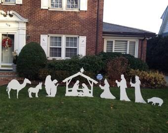 Christmas nativity scrne