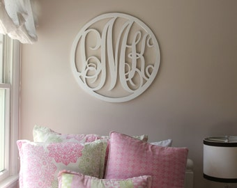 Wood Monogram Wall Decoration
