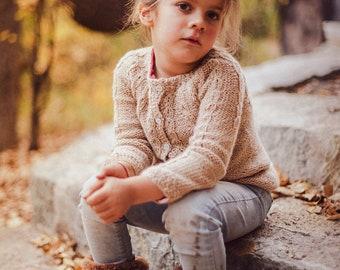 6 years. Alpaca sweater, Knitted sweater, Kids sweater,