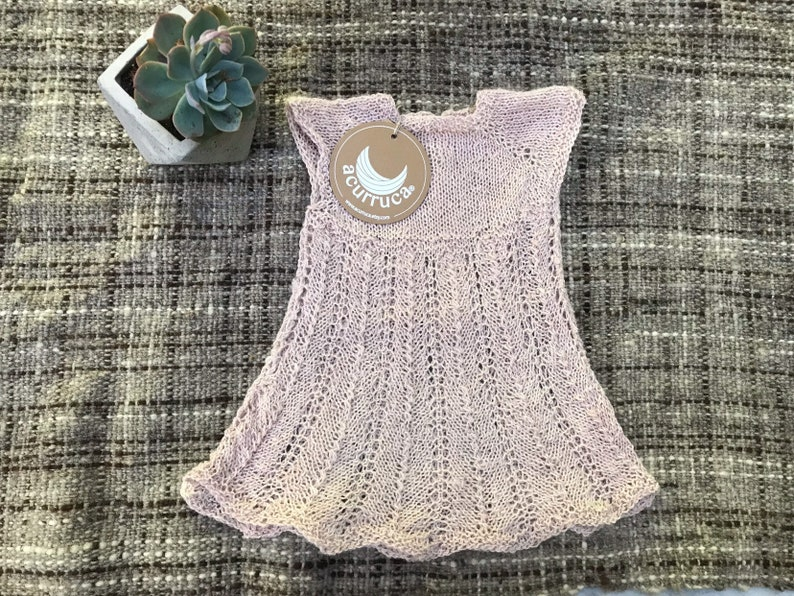 cc3b30e6a 0-3 months. Pure Alpaca dress for baby girl. Hand-knitted
