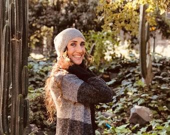 Alpaca hats, Hand knitted beanie, adults