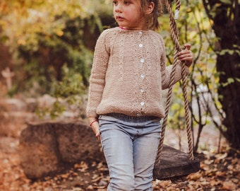 4 years. Alpaca sweater, Knitted sweater, Kids sweater,