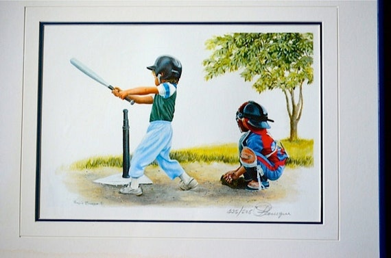 Framed Limited Edition Print By Patricia Bourque Home Run Etsy