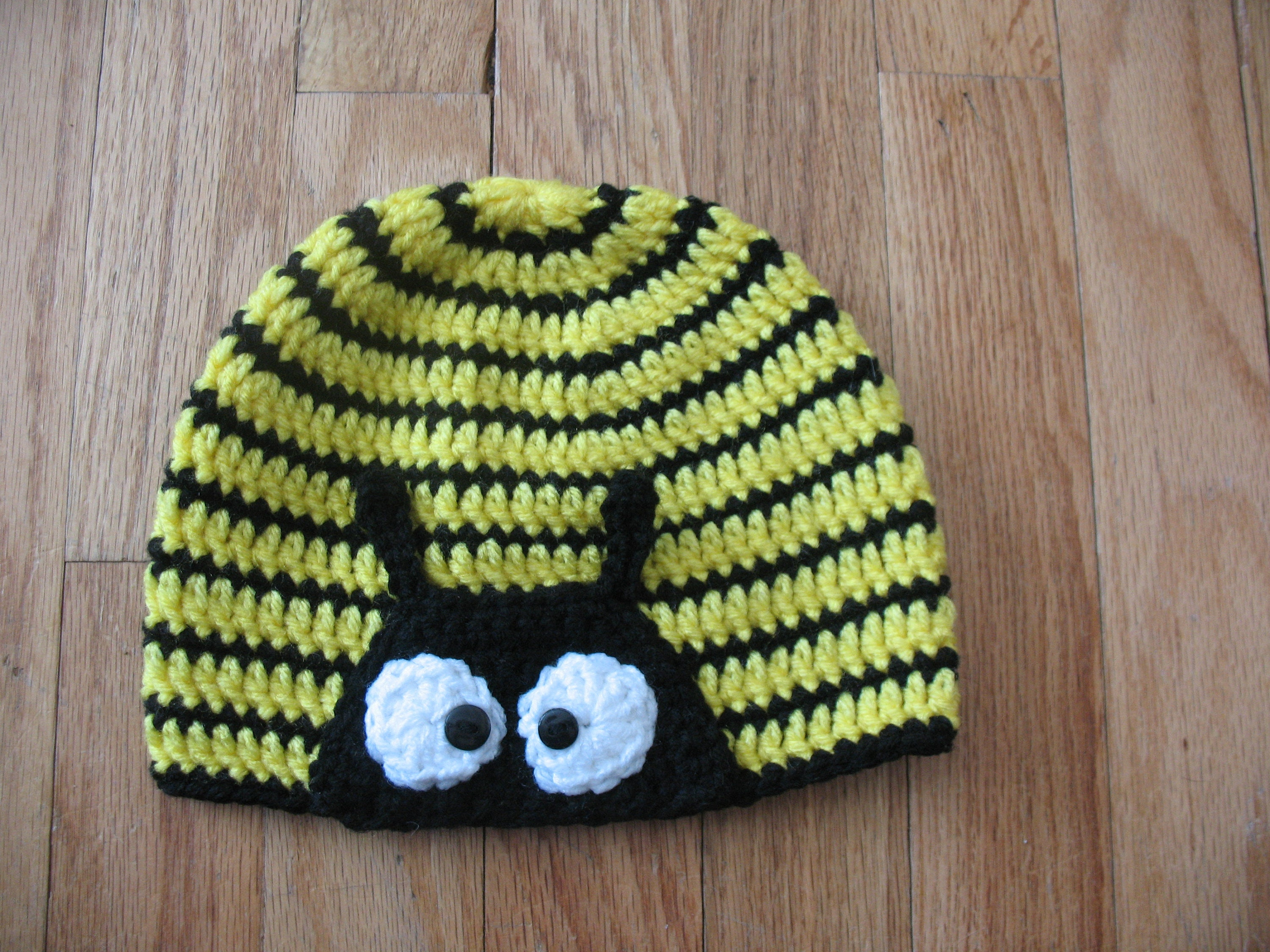 Bumble Bee Crochet Hat Etsy