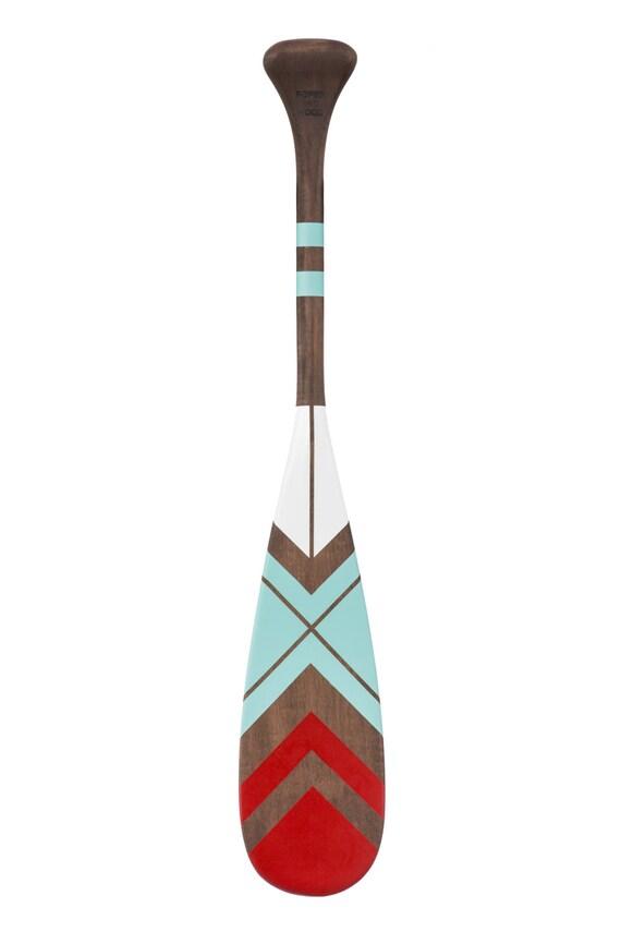 Paddelboot gemalt von hand 24 Paddel Holz nautische | Etsy