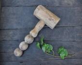 Wooden Mallet, Old Hammer, Vintage Tool, Shaped Handle, Primitive Tool, Vintage Gavel, Old Tool, Worn, Wood Mallet, Old Mallet, Vintage