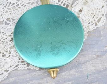Clock Pendulum, Turquoise, Faco Clock Part, Gold, Clock Part, Clock Supply, Large Pendulum, Vintage Clock, Turquoise Decor, Metal Pendulum