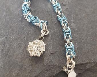 Byzantine Weave Bracelet. Chainmail Bracelet.