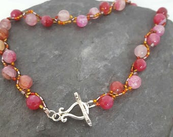 Radiance Red Agate Choker