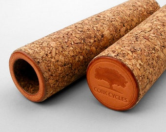Bicycle Cork Grips - 100% cork, natural, comfortable, brompton, urban, city, bike, velo, trekking, fixed, bars, warm, soft, touch, leather