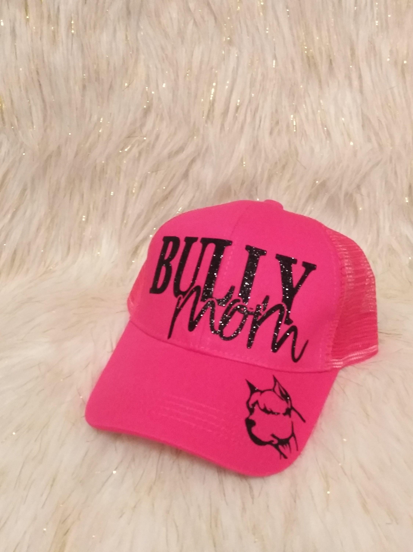 f9808d7cc CC Bully Hat, Rhinestones, Messy Bun Hat, Glitter, Trucker Hat ...