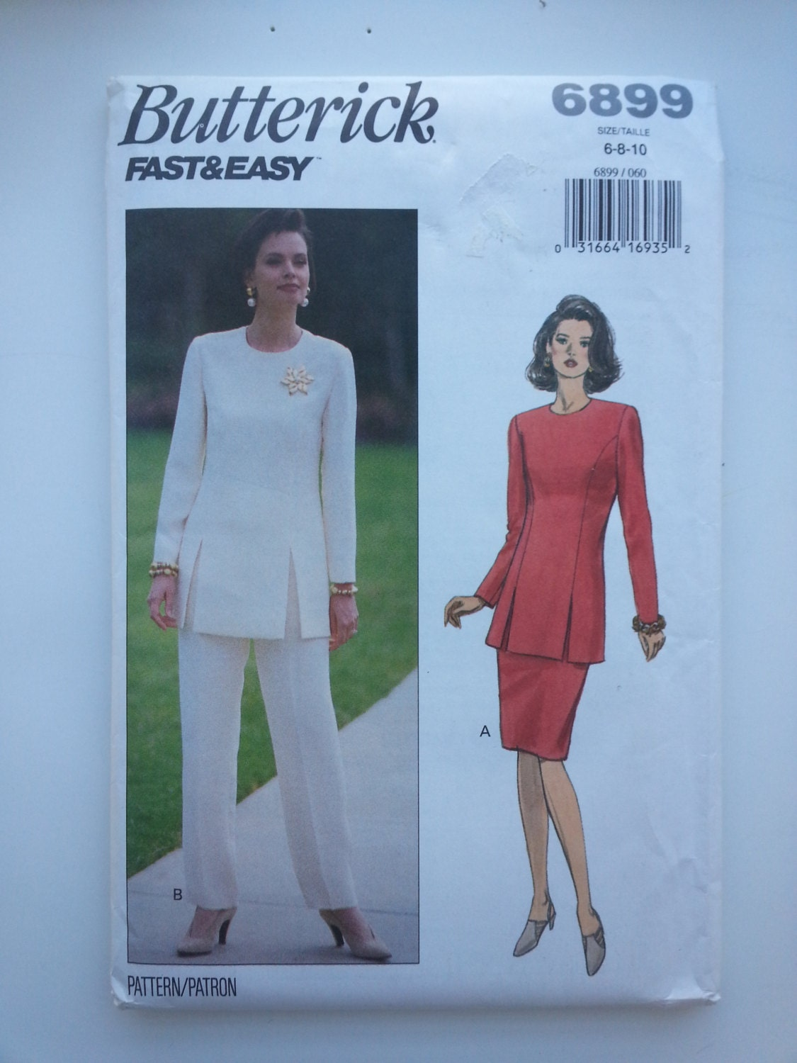 Womens pant suit / vintage sewing patterns / 90s sewing