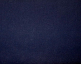 Navy blue dream cotton solid - Fabric by the yard.