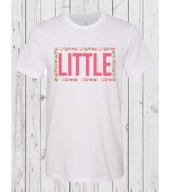 Sorority Big Little Floral Frame Tshirts | Etsy
