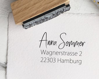 Stamp ADDRESS, address stamp, typographic stamp, stamp name, address stamp