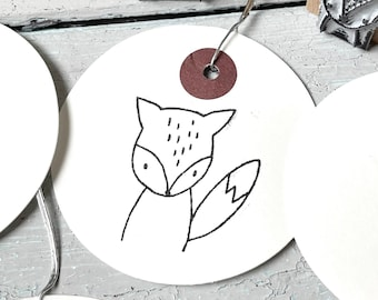 Stamp Fox   Stamp forest animal   small gift   Birthday
