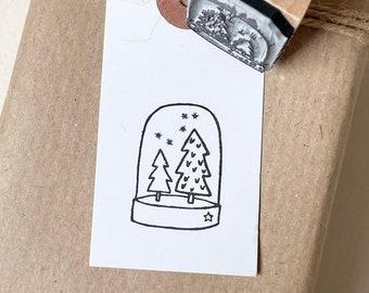 Stamp Christmas | Motif stamp Fir trees Snowflakes | Christmas stamp | Advent Calendar | Christmas tree