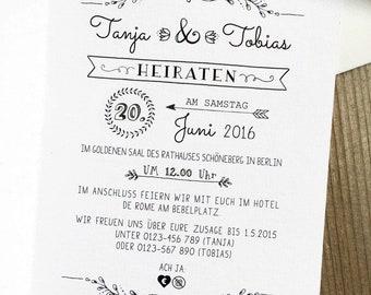 Hochzeit Einladung Etsy