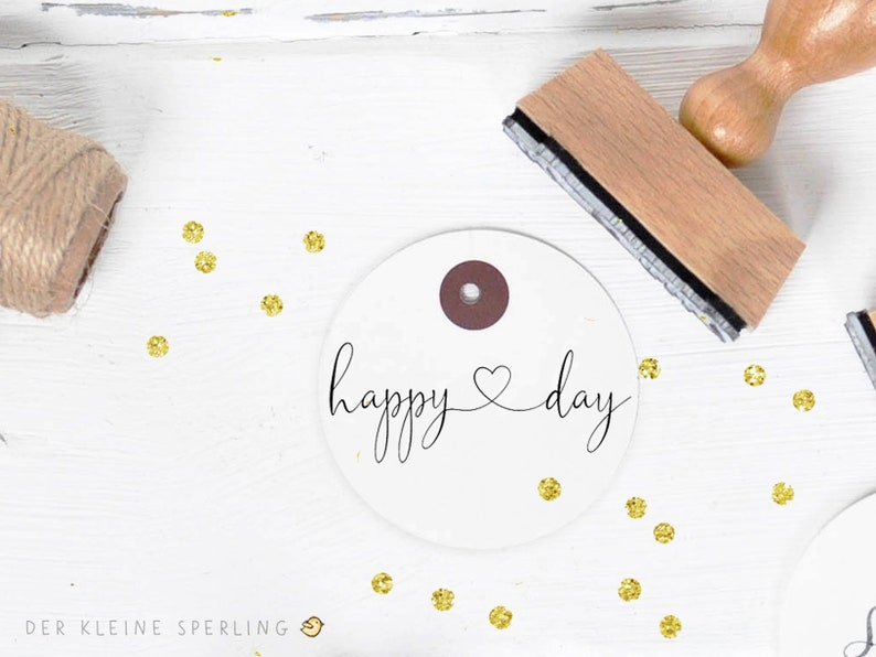 Stamp happy day with Heart Stamp wedding Wedding Invitation image 0