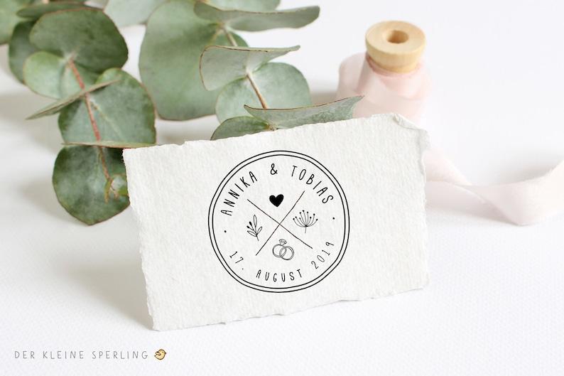 Hochzeitsstempel Logo