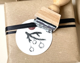 Stamp Christmas | Motif stamp fir branch with Christmas balls | Christmas stamp | Advent calendar