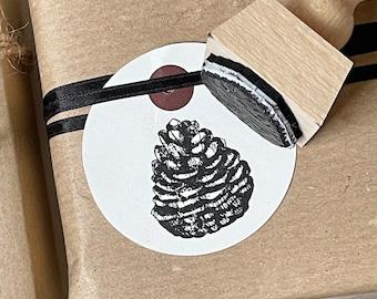 Stamp Christmas | Motif stamp pine cones | Christmas stamp | Advent calendar