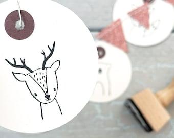 Stamp deer | Stamp forest animal | Children's birthday | Start of school