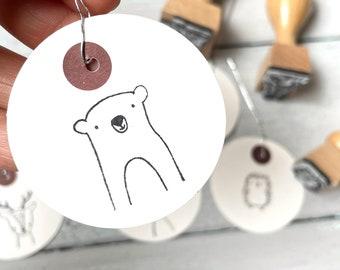 Stamp bear   Stamp forest animal   Children's birthday   Start of school