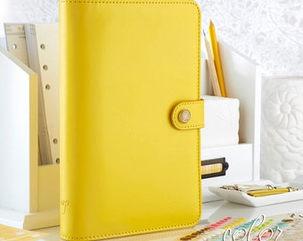 Yellow Personal Color Crush Planner with inserts Binder, kit, yellow planner, yellow binder