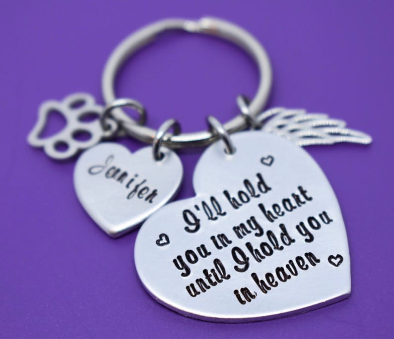 Personalized Pet loss Gifts keychain Pet Memorial Gift Cat Dog Sympathy Gift Jewelry In Memorial Fur ...