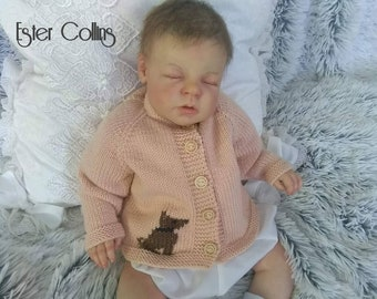 Hand knitted hat and coat 0-3 months Age 0-3 months. Baby hat and coat
