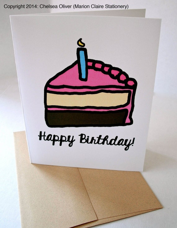 Cute Birthday Card Cake