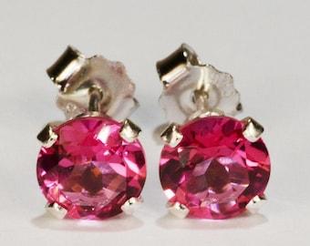 Pink Dangle Pink Topaz Earrings Topaz Jewelry Pink Topaz Jewelry Topaz Earrings Pure Pink Topaz Raspberry Earrings